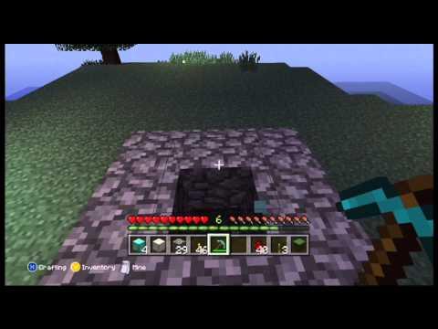 Minecraft (xbox 360) - How to duplicate blocks! *Get rich fast!* (Diamond/Iron/Gold)