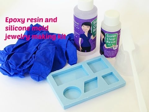 Epoxy resin and silicone mold jewelry making kit