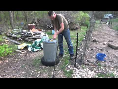 Raccoon Eating Chicken Feed So I Am Electrifying The Feed Bin