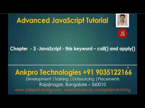 Advanced JavaScript - Chapter 3 - JavaScript - this keyword - Call and Apply