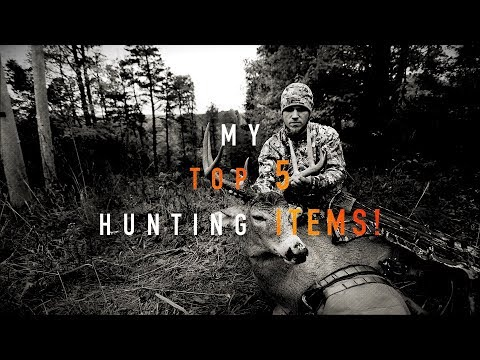 My TOP 5 Hunting ITEMS!