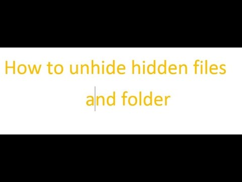 how to show hidden files and folder in USB
