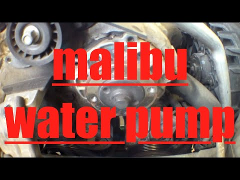 How to replace water pump drive belt tensioner Chevy Malibu √