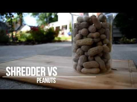 SHREDDER vs Peanuts - Slow Motion Action!
