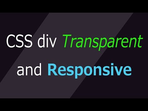 create a  transparent  div box  using css   | responsive container tutorial | web zone