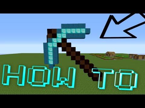 Minecraft : How To Make A Diamond Pick Axe Pixel Art /W Killerkev
