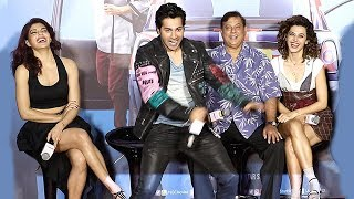 Varun Dhawan,Jacqueline & Taapsee Pannu's FUNNY Moments At Judwaa 2 Trailer Launch
