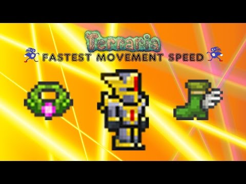 Terraria 1.2.4 (How to) Fastest Movement Speed (SANIC) + Acessory Glitch