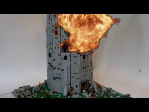 Working LEGO Catapult and Trebuchet