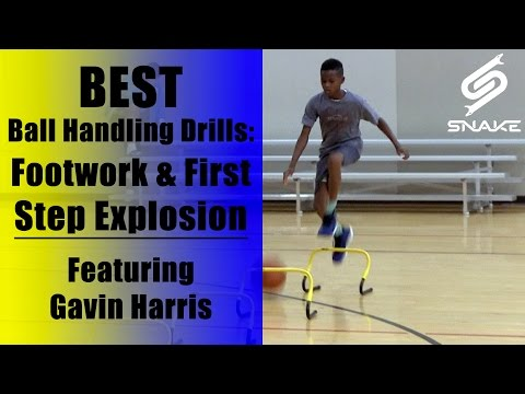 Best Dribbling Skills Basketball Workout & Drills - NBA Handles: Gavin Harris CRAZY 12 Year Old!