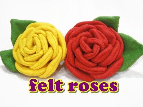 Felt Craft Tutorial - ROSE