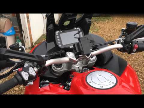 Multistrada sat nav GPS cable finding and fitting