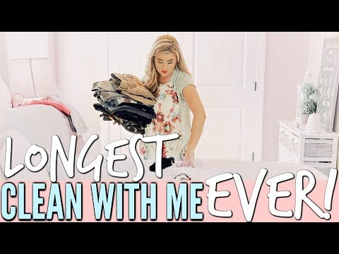 NEW! ULTIMATE CLEAN WITH ME | EXTREME CLEANING MOTIVATION | ALL DAY CLEANING ROUTINE | Love Meg