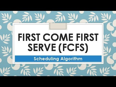 First Come First Serve (FCFS) Scheduling Algorithm in OS | Part-15