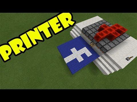 PRINTER | Minecraft PE Redstone Contraption | #pinoyyoutubersrule