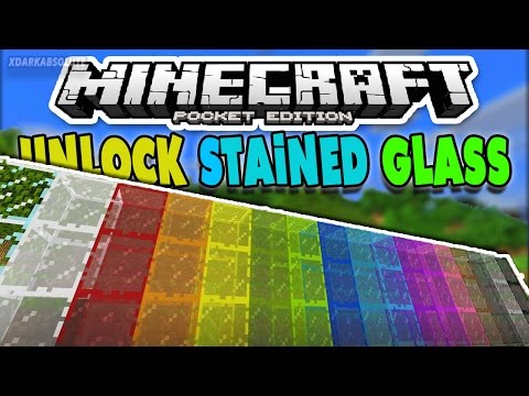 [iOS & Android] UNLOCK COLORED GLASS - MINECRAFT PE STAINED GLASS ADDON 1.0 (Pocket Edition)