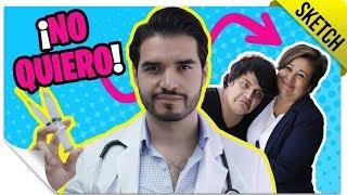 Ir al Médico con tu Mamá | SKETCH | QueParió! ft. Doctor Vic