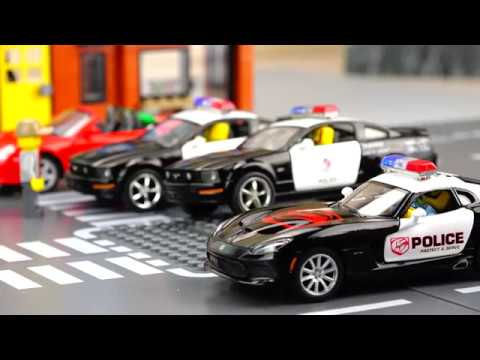 Police vs Thief Car Video for Kids
