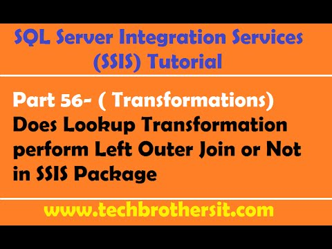 SSIS Tutorial Part 56-Does Lookup Transformation perform Left Outer Join or Not in SSIS Package