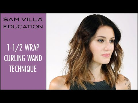 How to curl hair with a wand | The 1-1/2 Wrap Technique