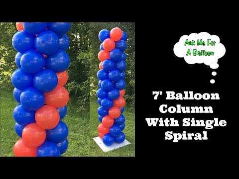 7' Balloon Column With Single Spiral