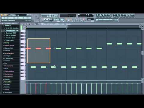Fl Studio 10 How To: Making a Simple Techno Melody + Bassline