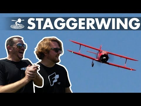 The Little Staggerwing that Could   Alex attempts a one-wheel landing