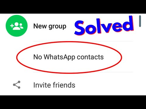 Fix Whatsapp Contacts Not Showing(No WhatsApp Contacts) Error In Android||Tablet