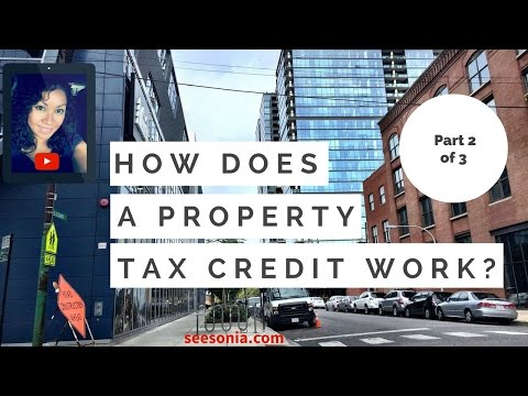 How does a property tax credit work?