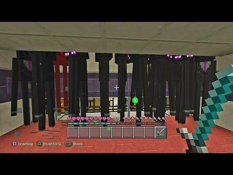Minecraft PS4 - Enderman Pearl/XP Farm Tutorial