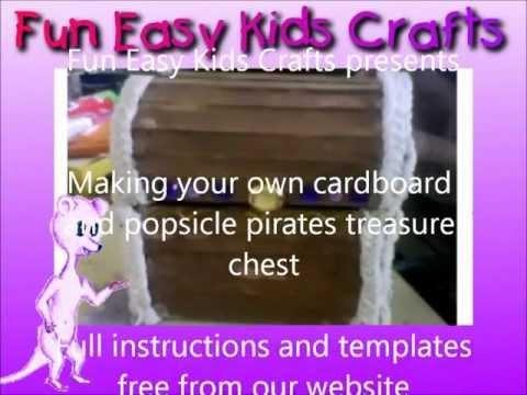 Making a cardboard pirate treasure chest