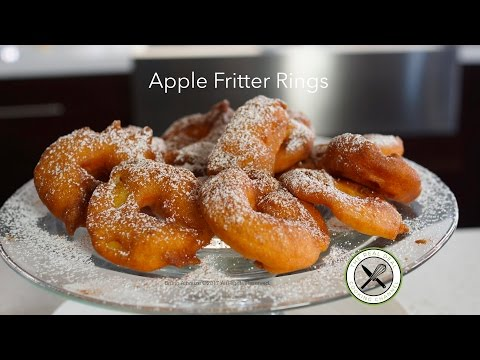 Apple Fritter Rings – Bruno Albouze – THE REAL DEAL