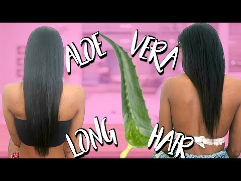 GROW YOUR HAIR LONG WITH ALOE VERA