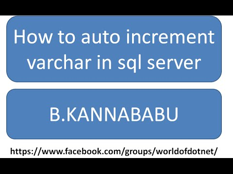 how to auto increment varchar in sql server