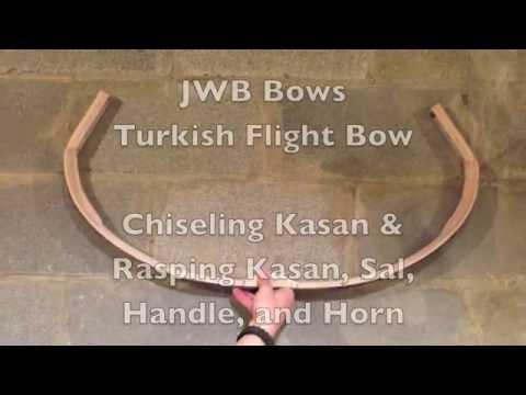 Turkish Flight Bow - Chiseling Kasan - Rasping Kasan, Sal, Handle, and Horn