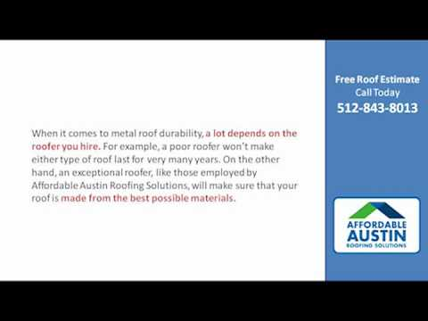 Austin Roofing - Do Metal Roofs Last Longer than Asphalt Shingle Roofs?