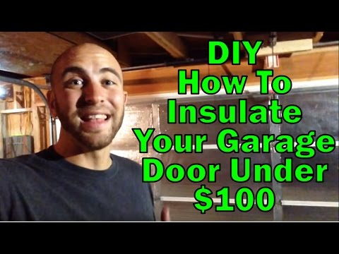 DIY: How to insulate your Garage door
