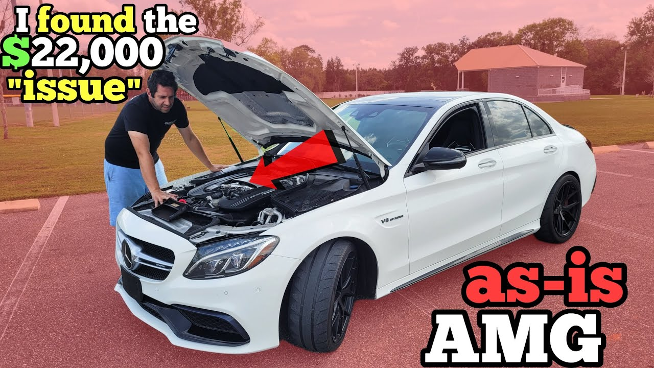 """I Bought an """"AS-IS"""" $90,000 Mercedes AMG at Auction and got 50% OFF (Twin Turbo C63s)"""