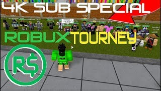 THE TOURNIES ARE BACK!! ROBUX PRIZE!! | Roblox: Dragon Ball