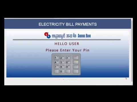 HOW TO PAY ELECTRICITY BILL THROUGH ANDHRA BANK ATM