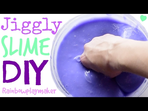 DIY SUPER JIGGLY WATER SLIME TUTORIAL