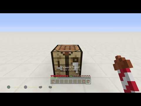 Minecraft: How to Make Flight Duration Three Fireworks