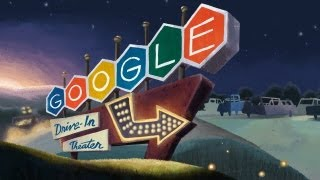 Doodle for the 79th Anniversary of the 1st Drive-In Movie Theater