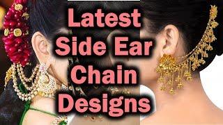Earrings With Side Chain | Side Chain Earrings | Bridal side chain earring