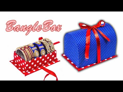 How to make bangle box | waste cardboard | recycle craft | DIY | Art with Creativity