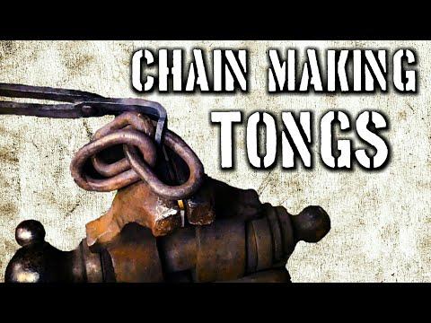 Forging Chain Makers Tongs for Blacksmiths