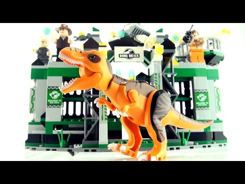 Dino Bricks Tyrannosaurus Rex Escape - Lego compatible dinosaur bricks - T-Rex Speed build