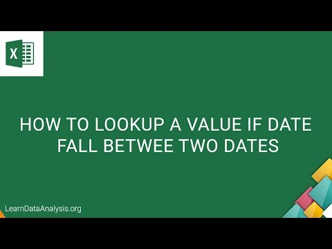 How to lookup a value if the date fall between two dates | Excel Tutorial