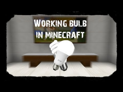 How to Make Working Bulb in Minecraft