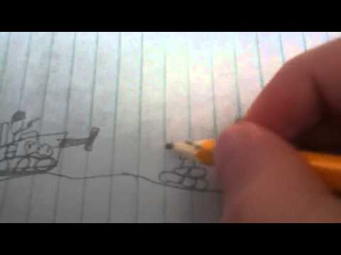 Stick figure drawing tips pt3: mini vehicles and bunkers